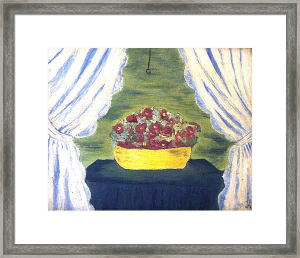In The Window By Bette Wolfe Framed Print