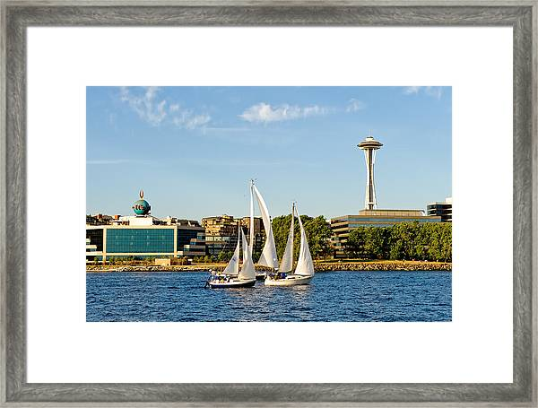 In Threes Framed Print by Tom Dowd