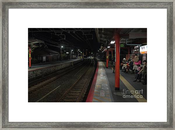 Inari Station, Kyoto Japan Framed Print