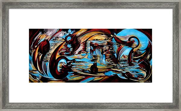 Incidental Landscape With Secret Reality Framed Print