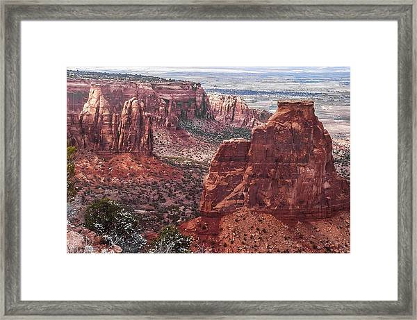 Independence Monument At Colorado National Monument Framed Print