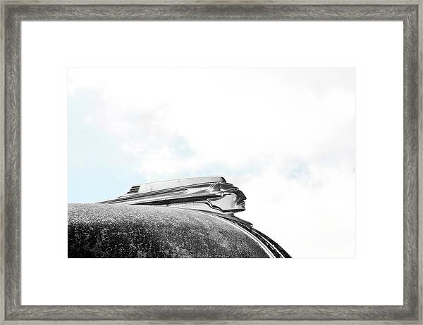 Indian Chief Hood Ornament Framed Print