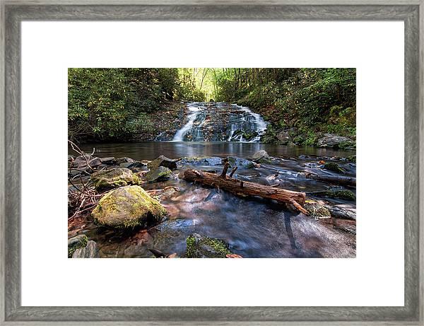 Indian Creek Falls Framed Print