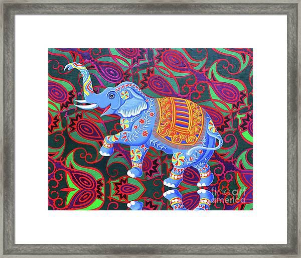 Indian Elephant Framed Print