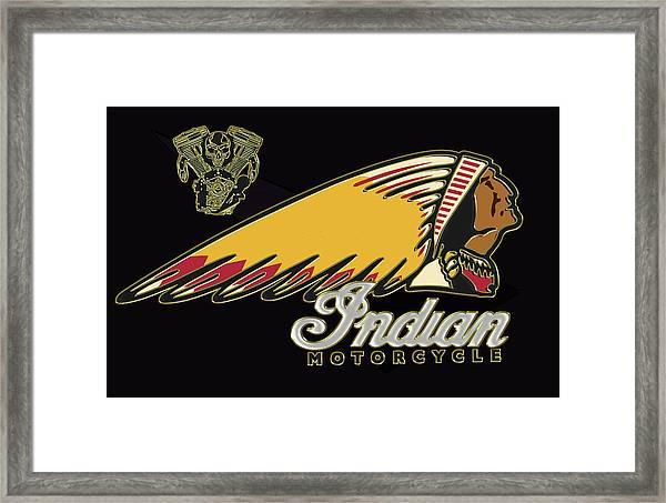 Indian Motorcycle Logo Series 2 Framed Print