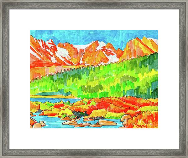 Indian Peaks Wilderness Framed Print