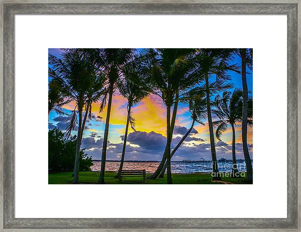 Framed Print featuring the photograph Indian River Sunrise by Tom Claud