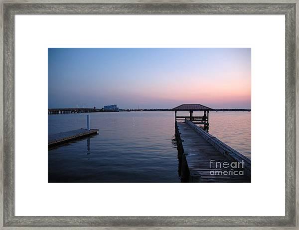 Indian River Sunset Framed Print