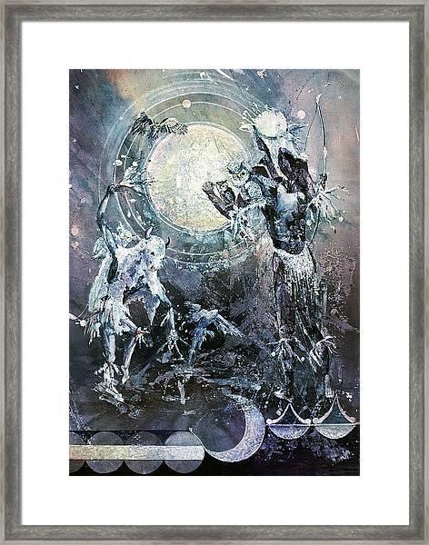 Indian Spirit Lunar Dance Framed Print
