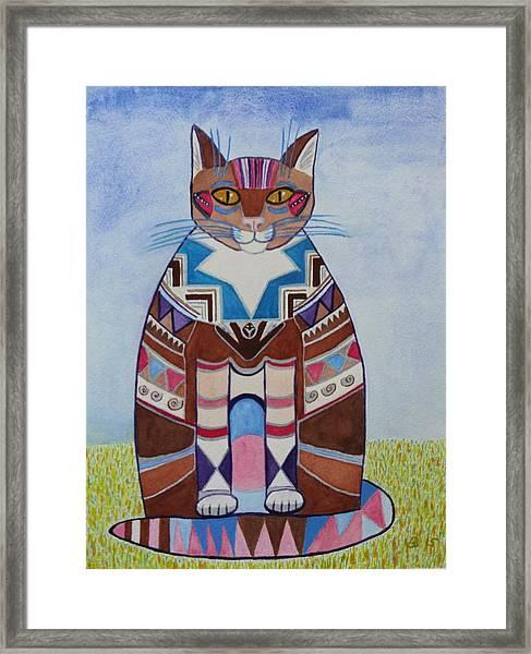 Indian Squirrel Cat Framed Print
