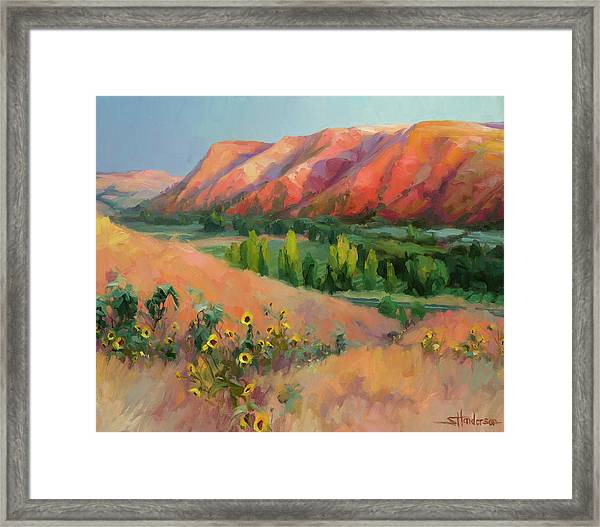 Indian Hill Framed Print
