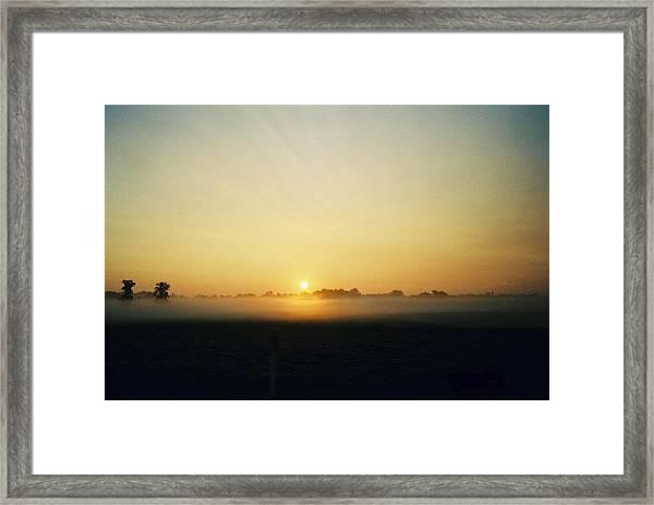 Indiana Sunrise Framed Print by Gene Linder