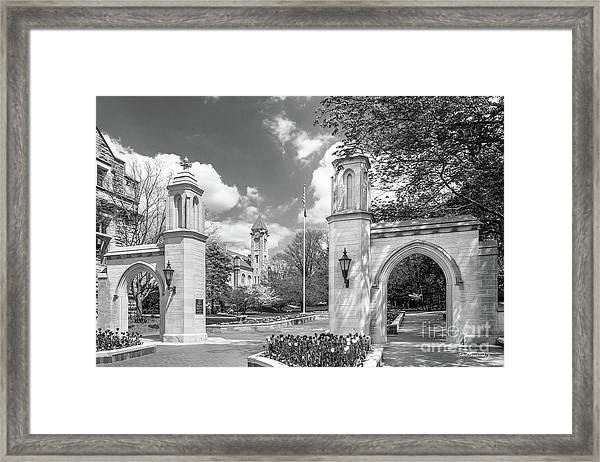Indiana University Sample Gates Framed Print