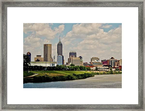 Indianapolis Skyline 25 Framed Print