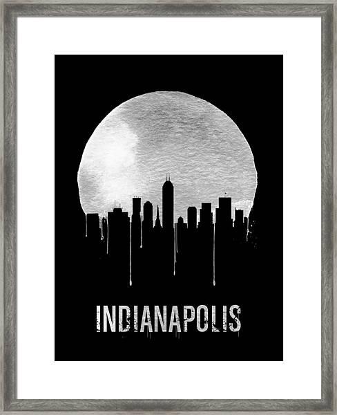 Indianapolis Skyline Black Framed Print