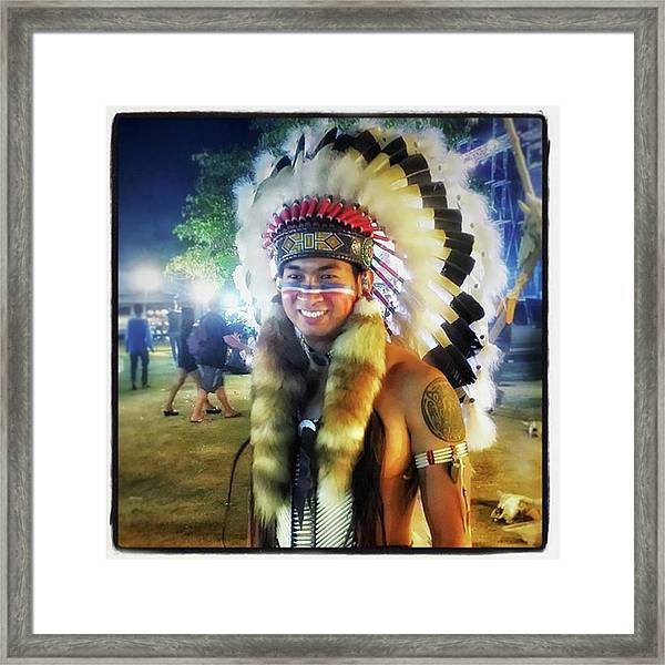Framed Print featuring the photograph Indians Invade Thailand. Cowboys Too by Mr Photojimsf