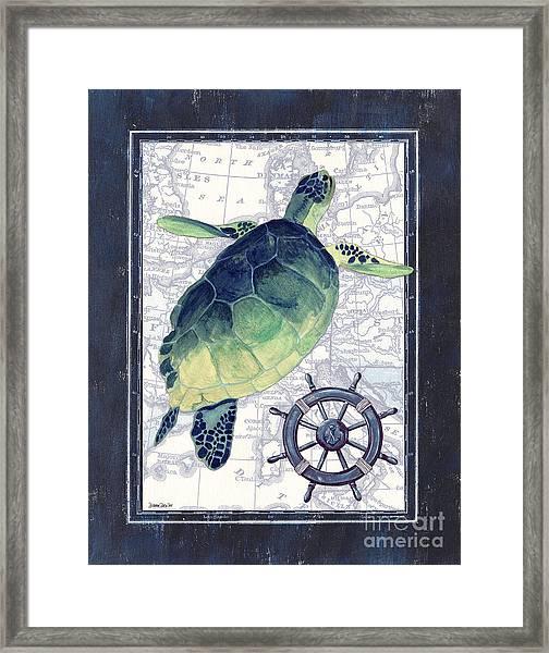 Indigo Maritime 1 Framed Print