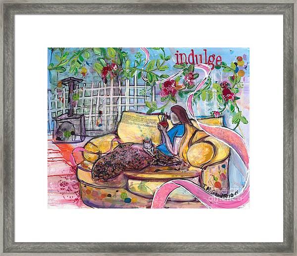 Indulge Framed Print