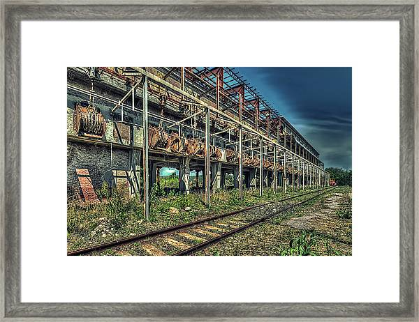 Industrial Archeology Railway Silos - Archeologia Industriale Silos Ferrovia Framed Print