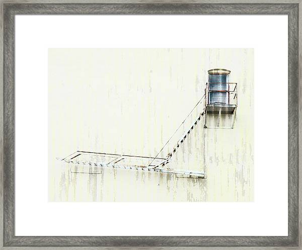 Industrial Art Fire Escape Framed Print