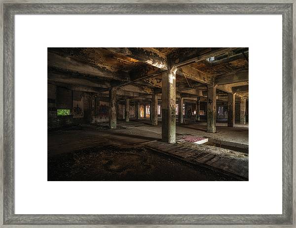 Industrial Catacombs Framed Print