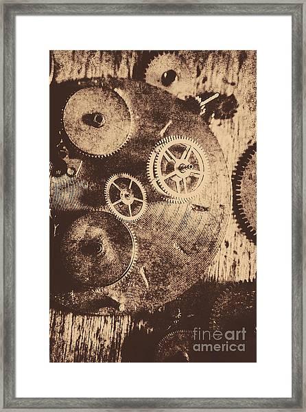 Industrial Gears Framed Print