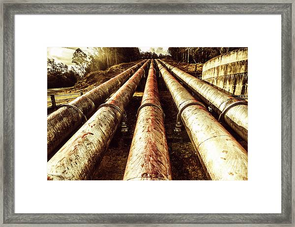Industrial Hydro Architecture Framed Print
