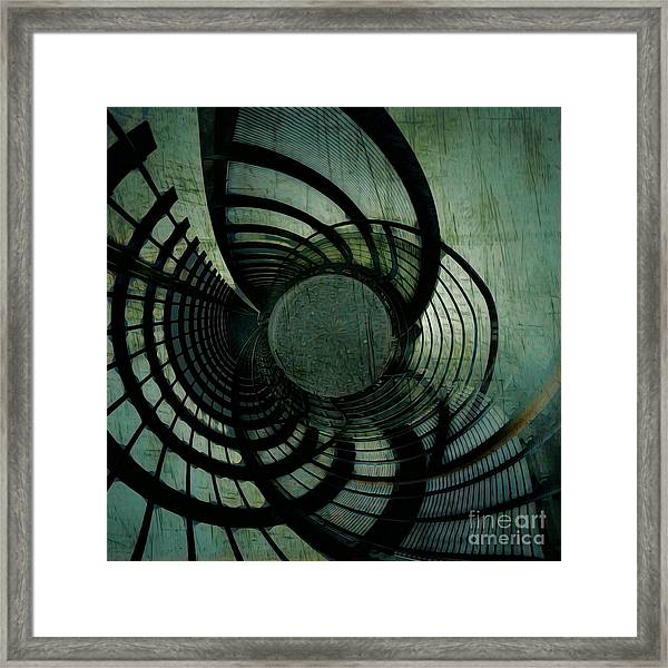 Industrial Overpass Grey Framed Print
