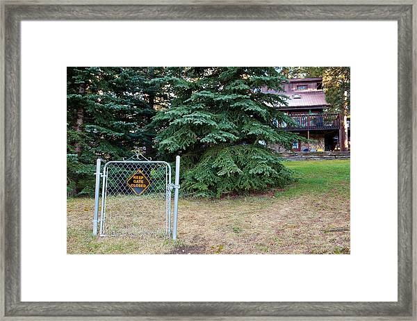Ineffective Home Security Framed Print