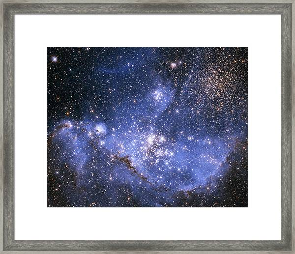 Infant Stars In The Small Magellanic Cloud  Framed Print