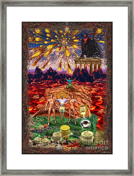 Inferno Of Messages Framed Print