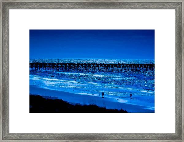 Infinite Blue Framed Print by John Pagliuca