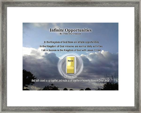 Infinite Opportunities Framed Print