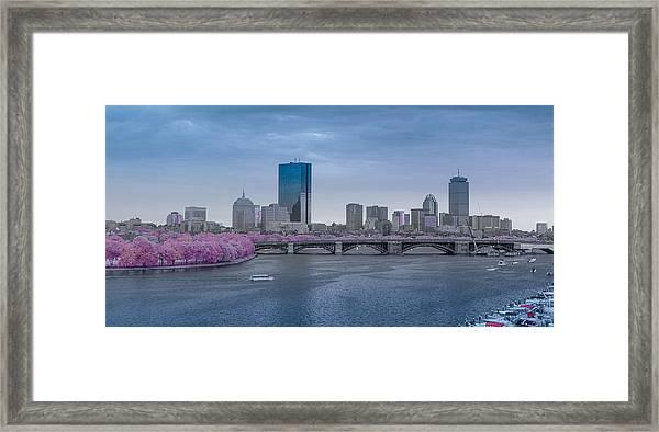 Infrared Boston Framed Print
