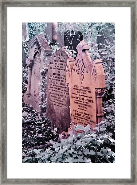 Music Hall Stars At Abney Park Cemetery Framed Print