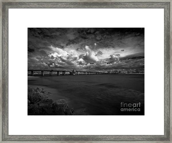 Infrared Longboat Pass Bridge Framed Print