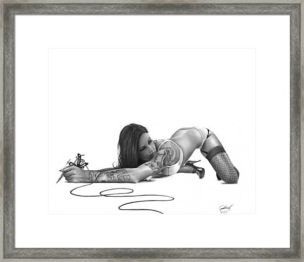 Ink Angel Framed Print