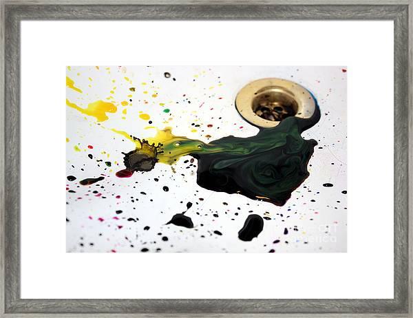 Ink Splash Framed Print