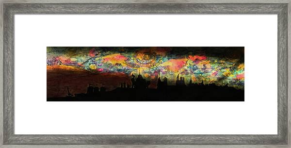 Inky Inky Night II Framed Print