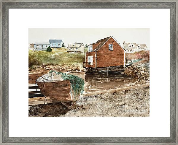 Inlet At Peggy's Cove Framed Print