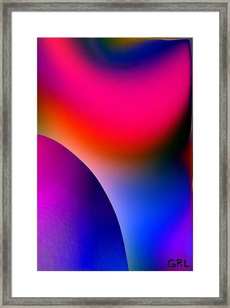 Framed Print featuring the painting Inner Cosmos 2 Red I  Contemporary Digital Art by G Linsenmayer