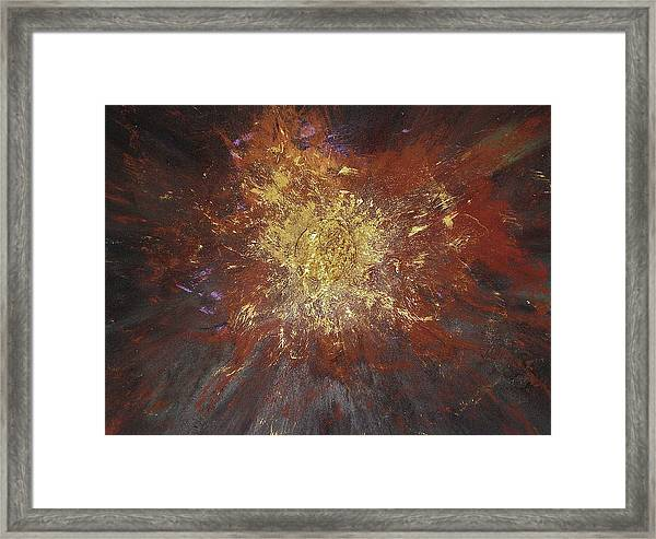 Framed Print featuring the painting Inner Fire by Michael Lucarelli