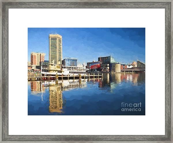 Inner Harbor Reflections  Framed Print