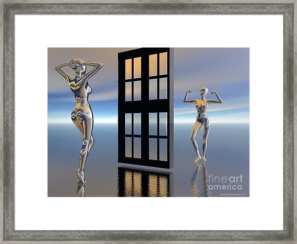 Framed Print featuring the digital art Inner Strength by Sandra Bauser Digital Art