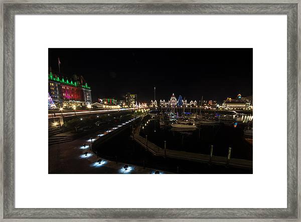 Inner Harbour Of Victoria Bc Framed Print