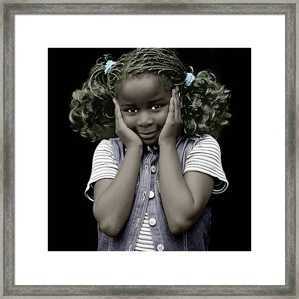 Framed Print featuring the mixed media Innocent by Jan Keteleer