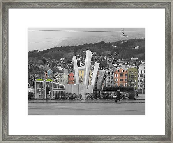 Framed Print featuring the photograph Innsbruck Art by Dylan Punke