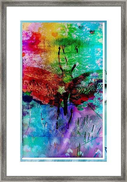 Insects And Incense Framed Print