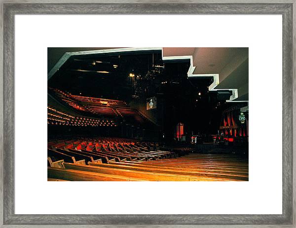 Inside Grand Ole Opry Nashville Framed Print