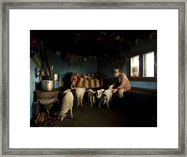 Inside His House Framed Print